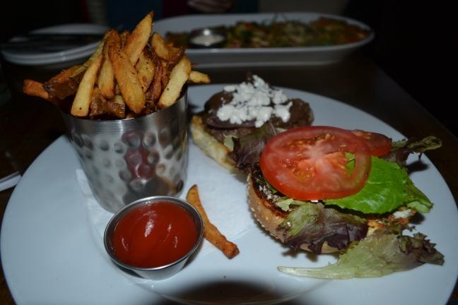 Lamb Burger and Hand Cut Fries